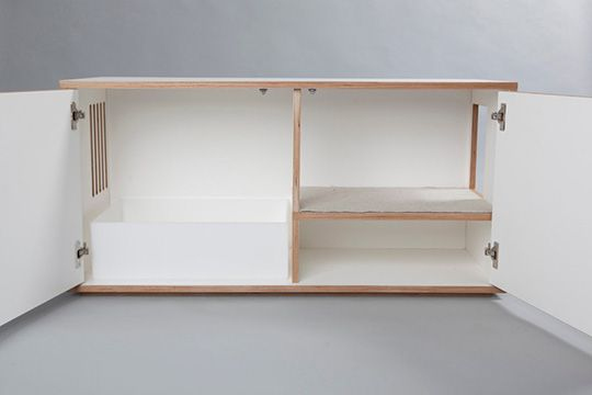Stylish Modern Litterbox Cabinet From Julinka Modern Cat Furniture Litter Box Enclosure Cat Furniture Diy
