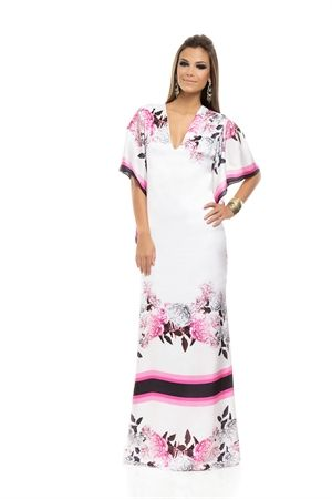 Vestido Longo Estampa Floral com Listras - sale-iorane-f-vestido-longo-estampa-floral-com-listras Iorane