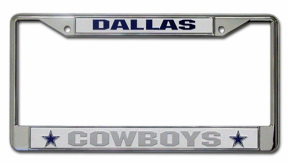 DALLAS COWBOYS CAR AUTO CHROME METAL LICENSE PLATE TAG FRAME NFL ...