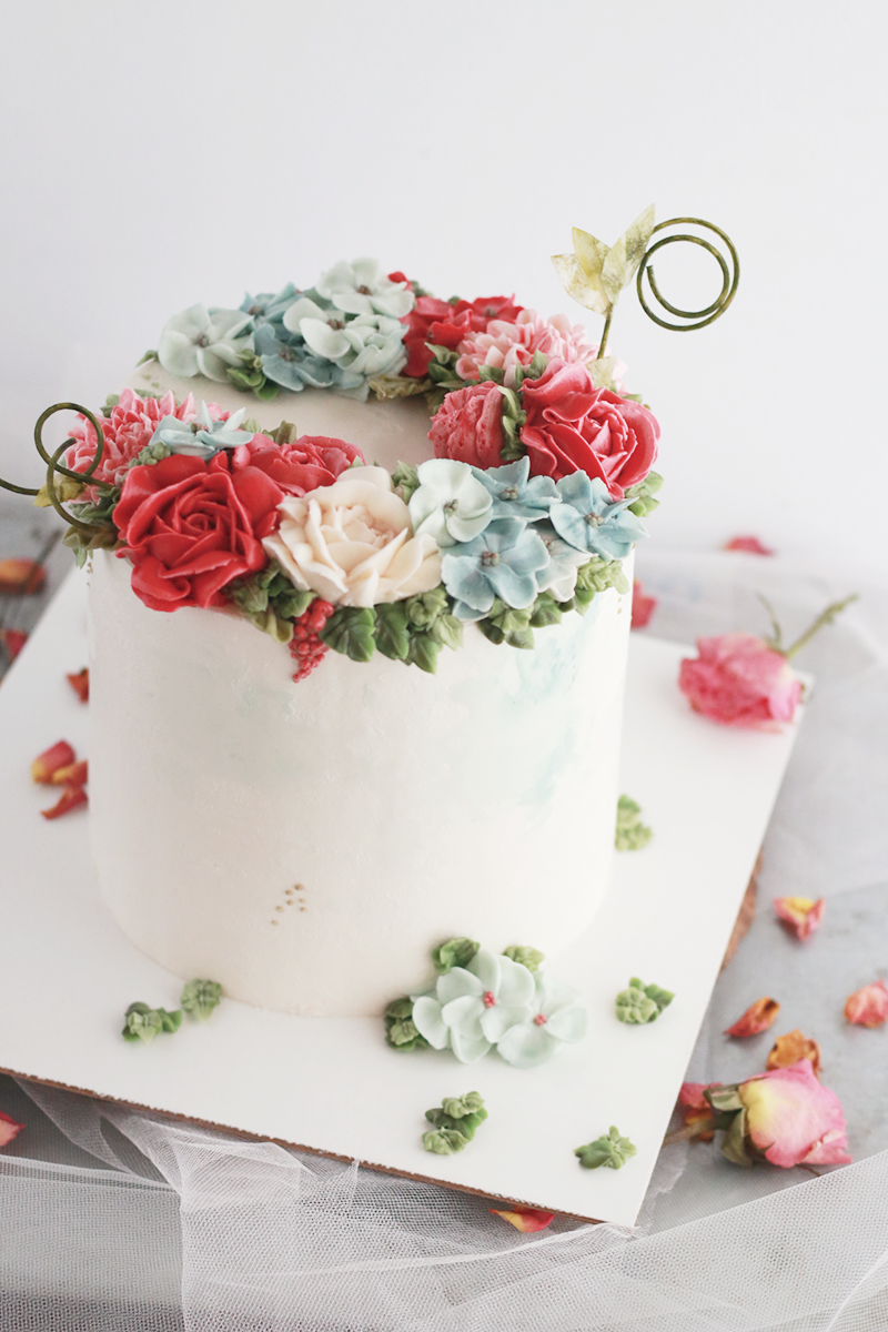 Buttercream Flower Cake Flower Cake Buttercream Flowers Buttercream Flower Cake