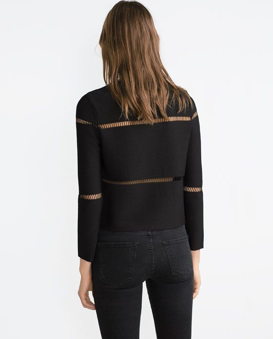 Love, love the cut-out detail on this Zara jumper.
