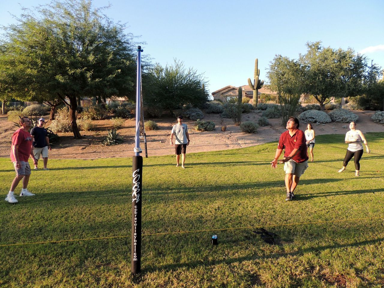 outdoor volleyball net system from cobra volleyball lakehouse