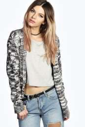 Elda Loop Knit Hooded Cardigan from #Boohoo on discounted price. Use promotional Codes and coupon Codes.
