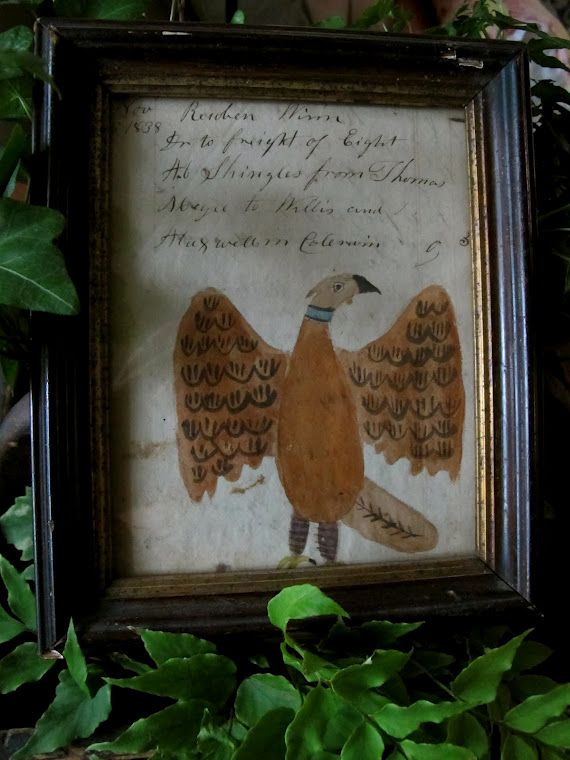 The most folky eagle with script.  Mugwump Woolies
