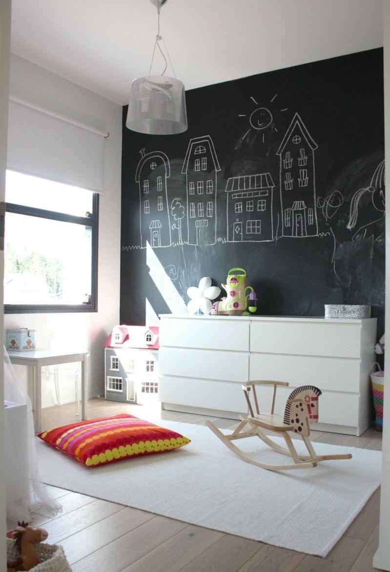 40 ides de peinture tableau noir comme accent de lintrieur - Peinture Noir Et Blanc Chambre