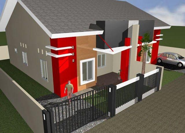 Desain Rumah Minimalis Modern Dua Lantai Type  Idearumahidaman Desainrumah Homedesign Type