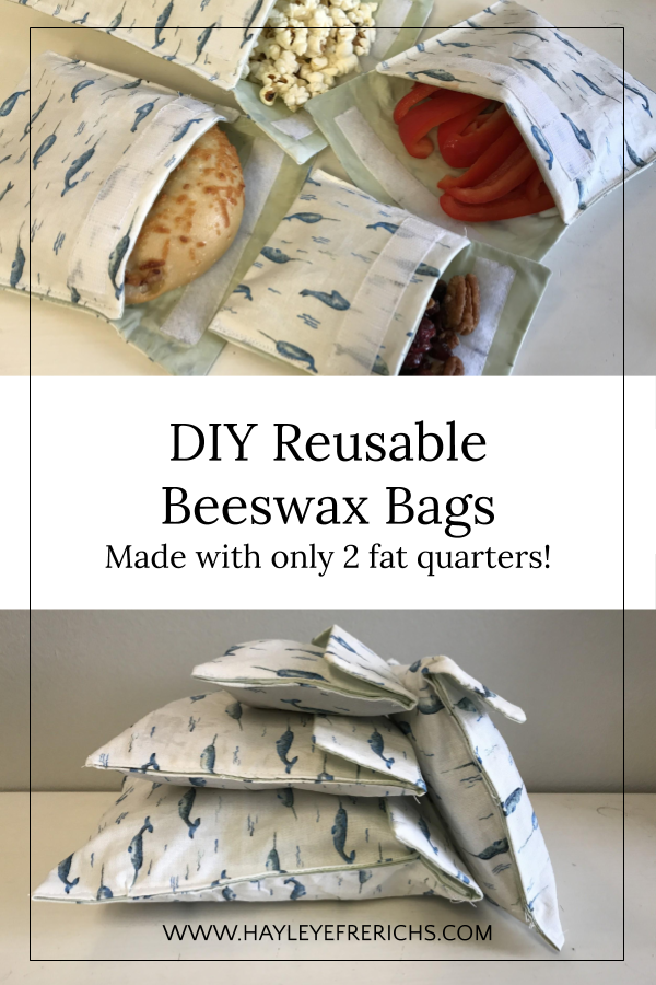 Beeswax Wraps Velcro Bags: 15 minute craft idea
