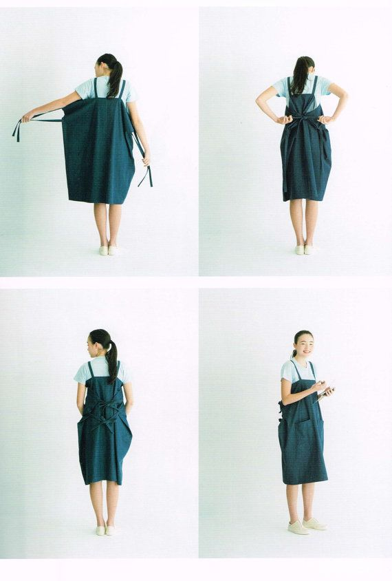 Apron & Apron Dress by Mao Waragai, Japanese Sewing Pattern Book for ...