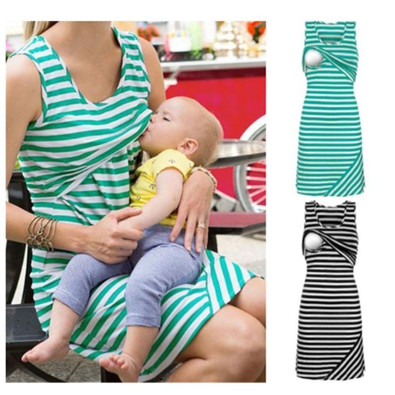 6a0dfbabe85 Product Name Maternity Stripe Nursing & Feeding Dress Brand Name lukalula  SKU YDX18050210 Season Summer Material