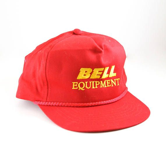 97c33868c Vintage Red Bell Equipment Snapback Hat // Vintage Trucker Hat ...