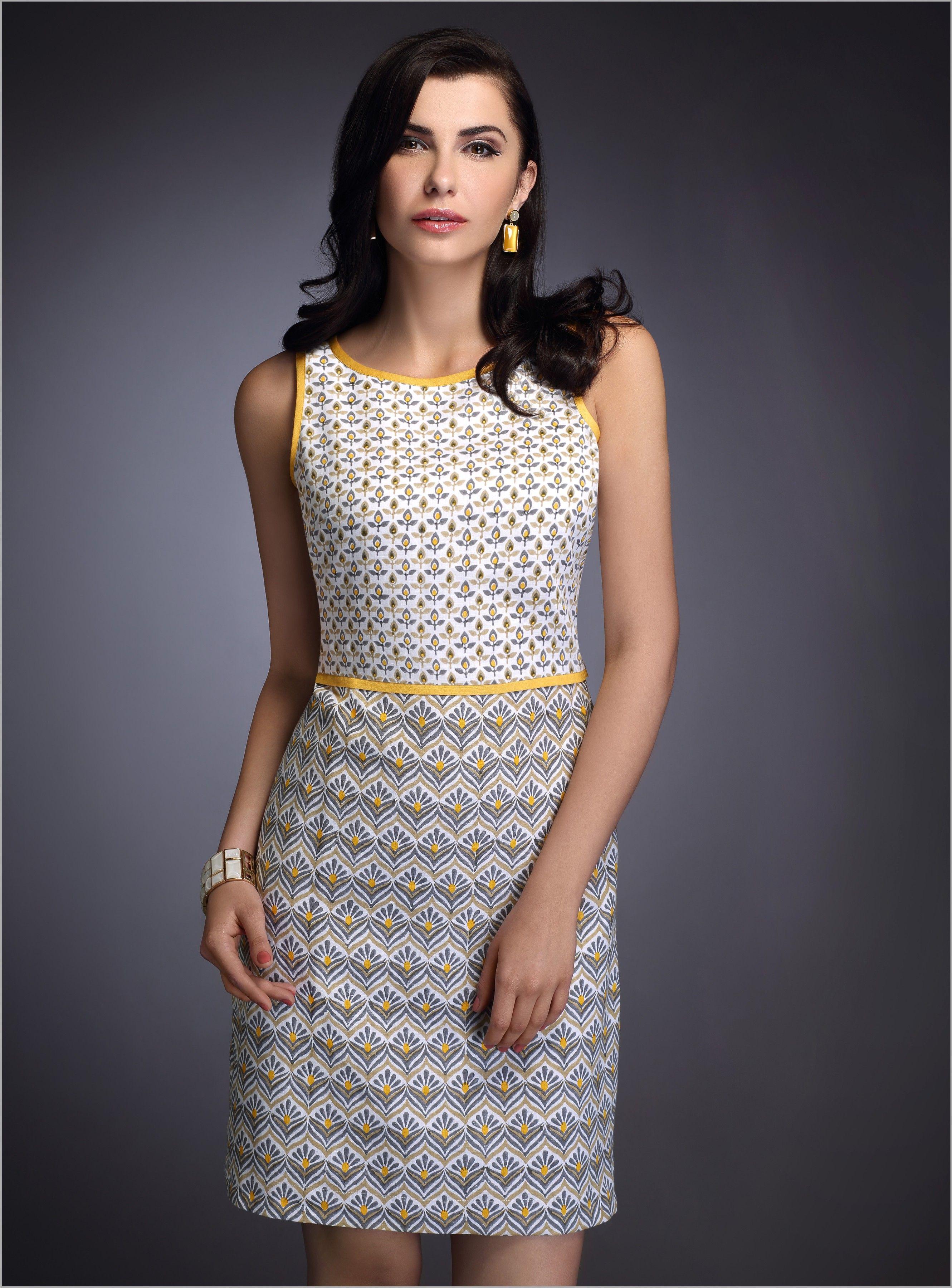 Fabels Fabindia Dress Day Summer Blockprint Cotton Knee Length Dresses Cotton Sundress Fashion [ 3600 x 2661 Pixel ]