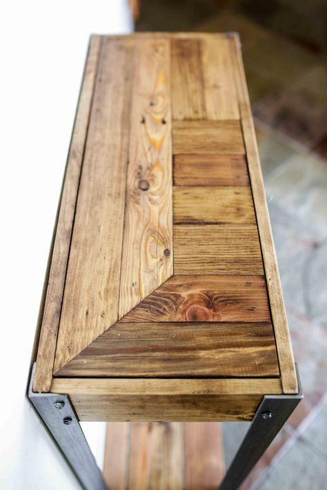 Pallet houten entry Hall tafel