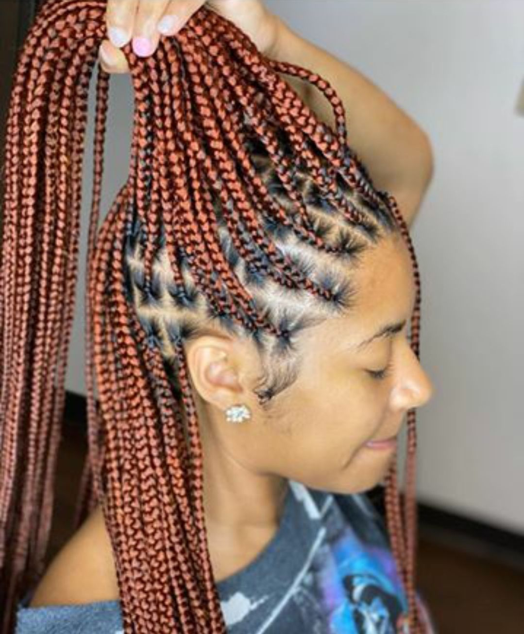 46++ Small knotless braids with color trends