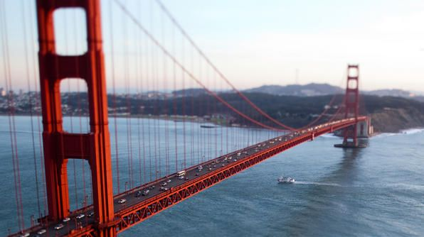 The Golden Gate Bridge in San Francisco, CA