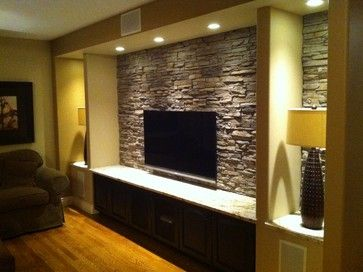 Stone Tv Wall Design Ideas Pictures Remodel And Decor Tv Wall