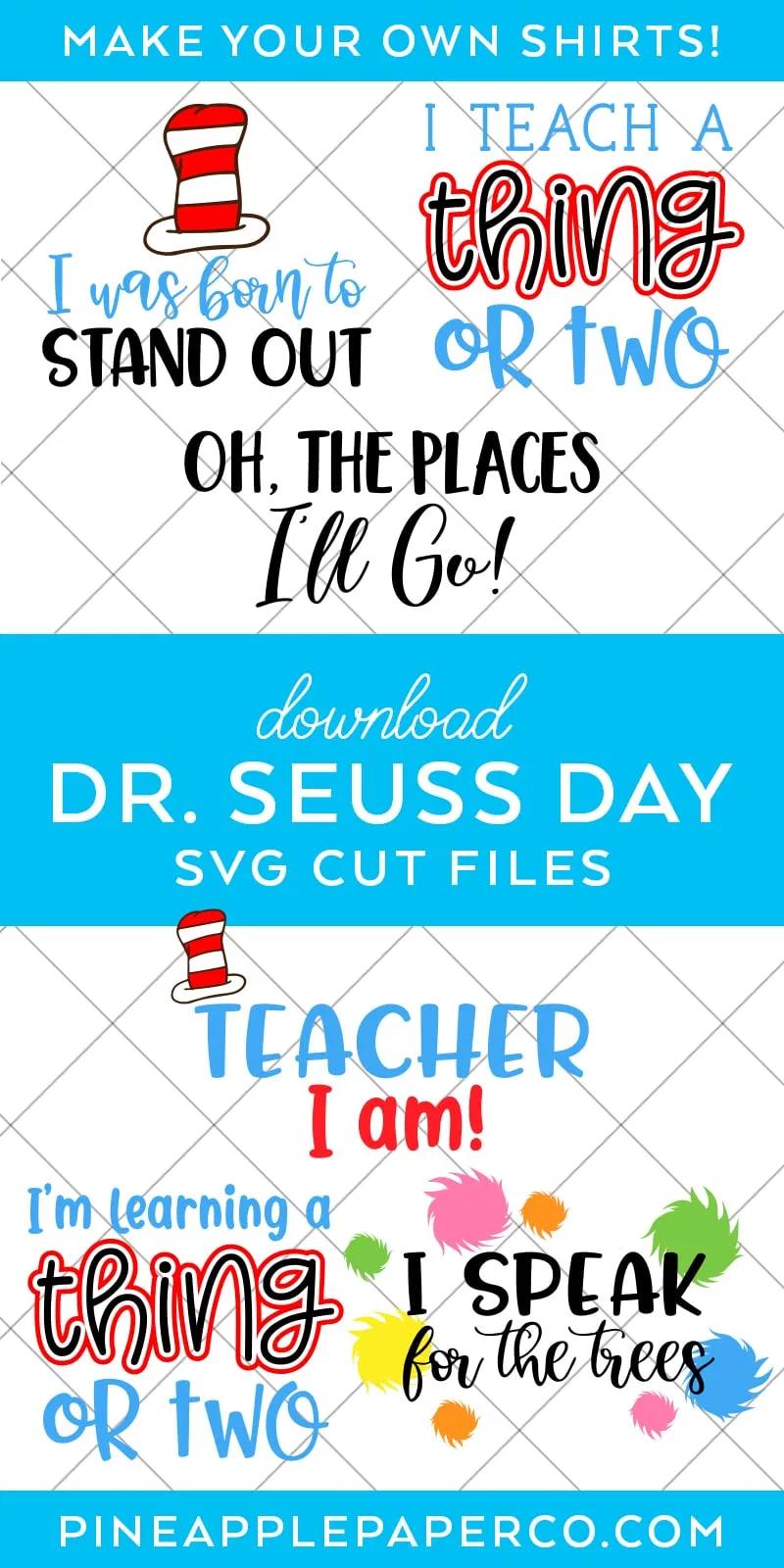 Dr Seuss Svg Files For Dr Seuss Day Dr Seuss Shirts Dr Seuss Font Dr Seuss Day