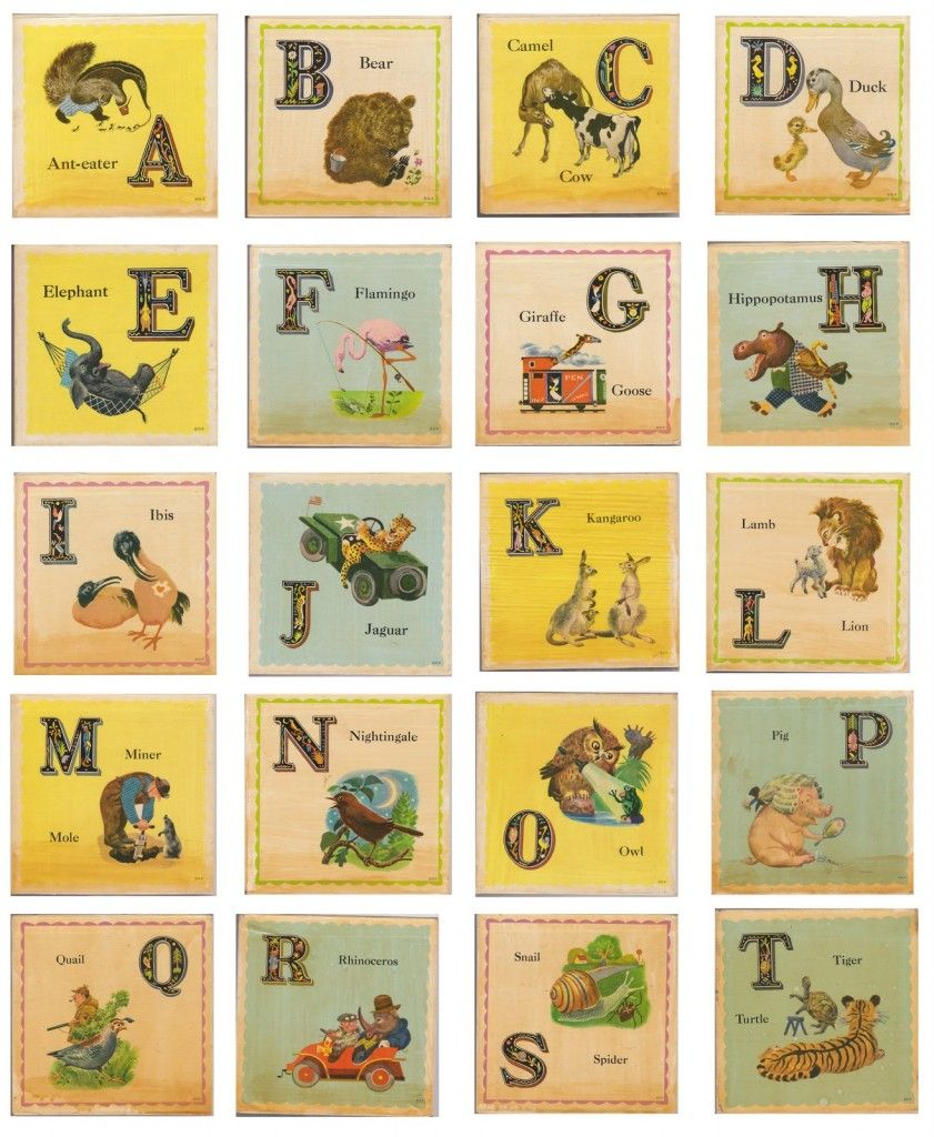 Free Printable Vintage ABC Cards