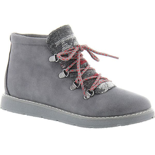 Short heel boots, Grey ankle boots