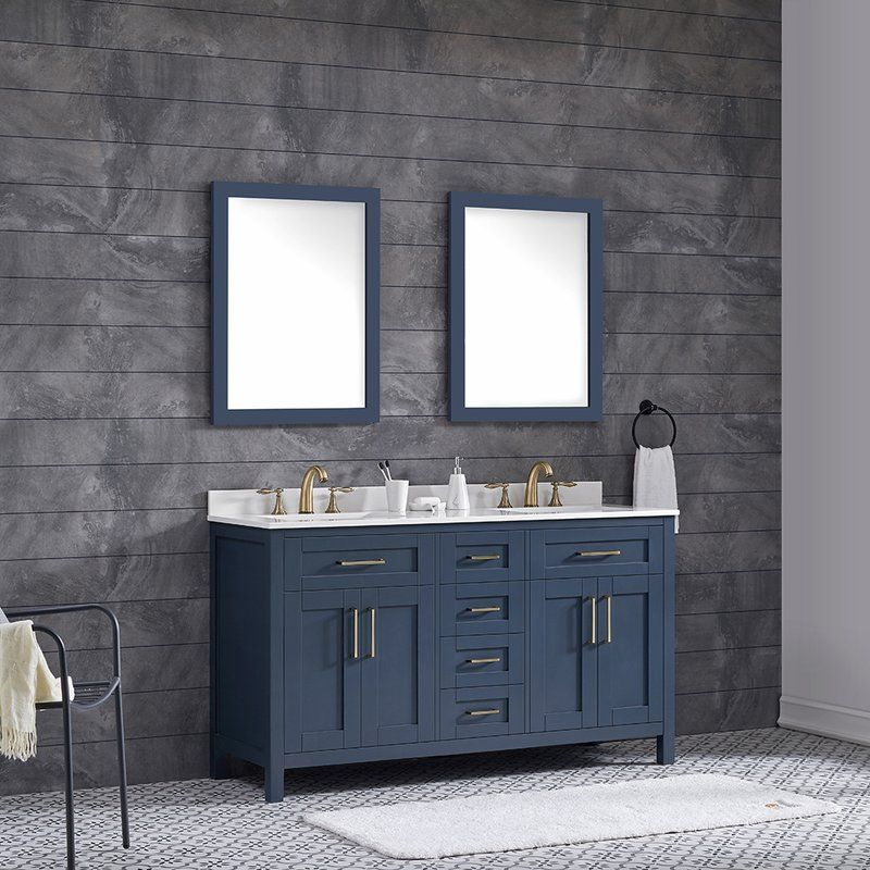 Tahoe 60 Quot Double Bathroom Vanity Set Shelton Home In