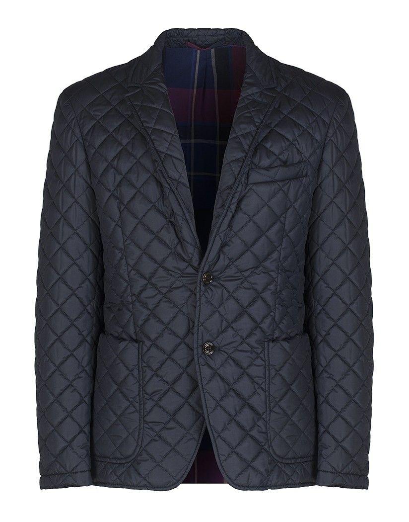 Hackett Men's Burford Quilted Jacket - Navy - Men's Quilted Jackets - Men's  Jackets and Coats
