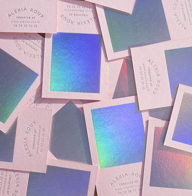 Alexia Roux Business Card | Hologram | Pinterest | Business cards ...