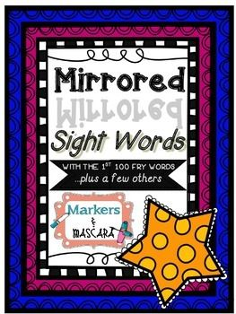 Freebie! Mirrored Sight Words with Fry Words   TITLE   Fry ...