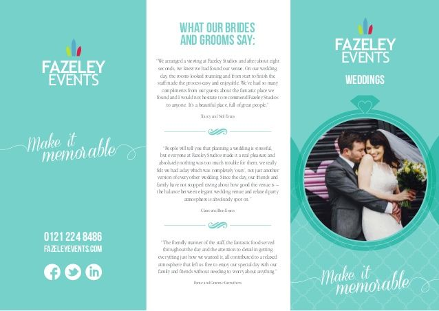 Image result for wedding venue brochure | Work - Projects ...