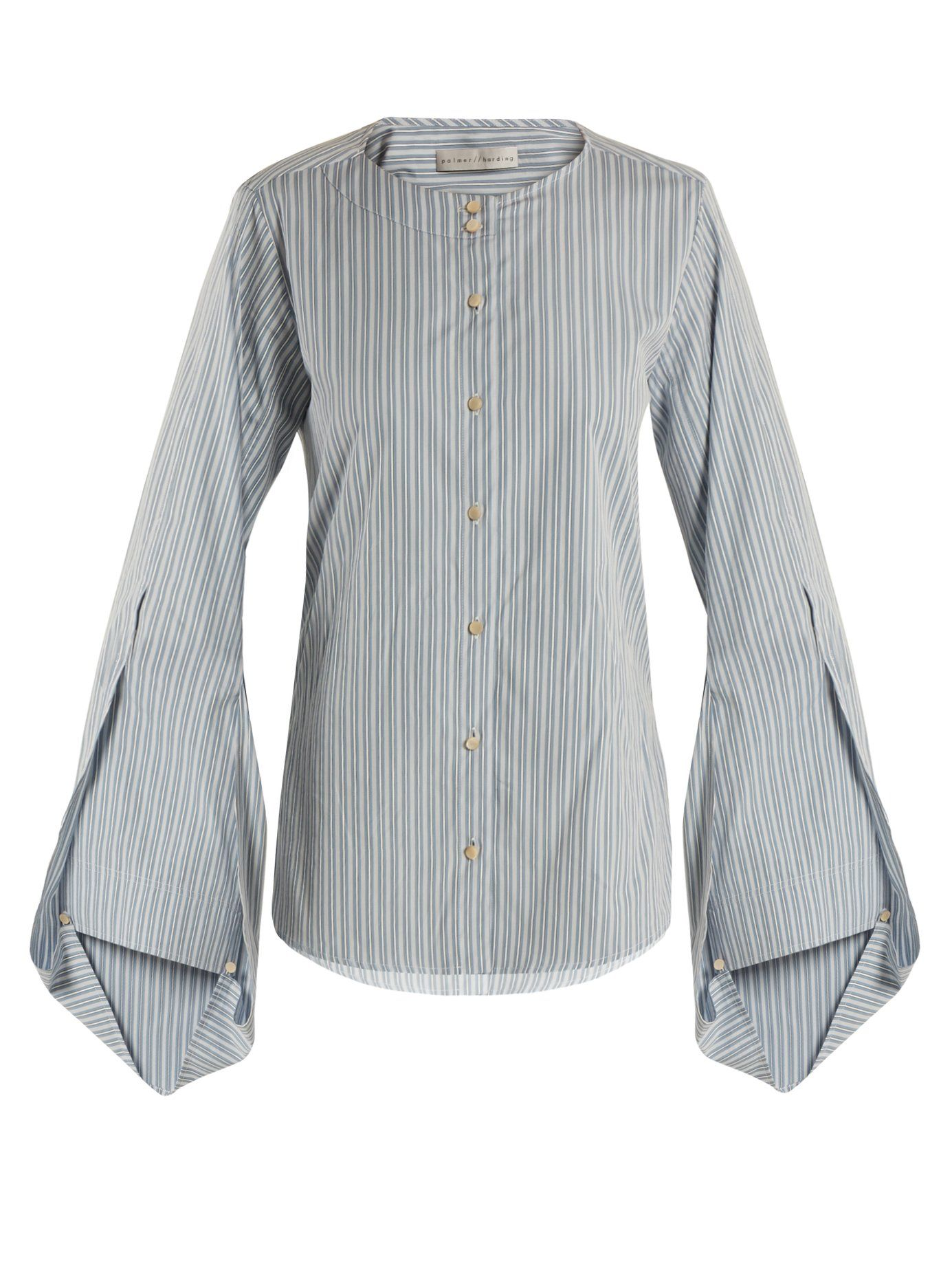 Balloon-sleeved cotton shirt Palmer//harding Cheap Sale Top Quality Outlet Latest Collections uFnGz