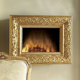 Wall Fireplace, Gilded Frame from Through the Country Door®