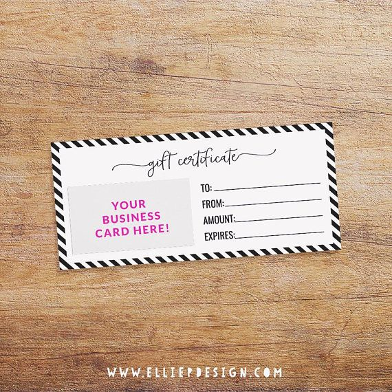 Gift certificate printable for your small business instant gift certificate printable for your small business instant download black and white stripes colourmoves