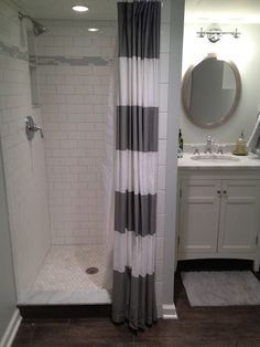 Image Result For Small Walk In Shower With Curtain Small