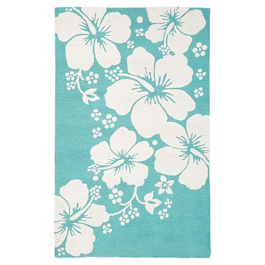 Hibiscus Rug 3x5' in Pool from Pottery Barn for 79.00
