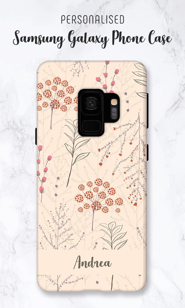 san francisco 90dc1 04463 Floral Personalised Phone Case for Samsung Galaxy. Available for New ...