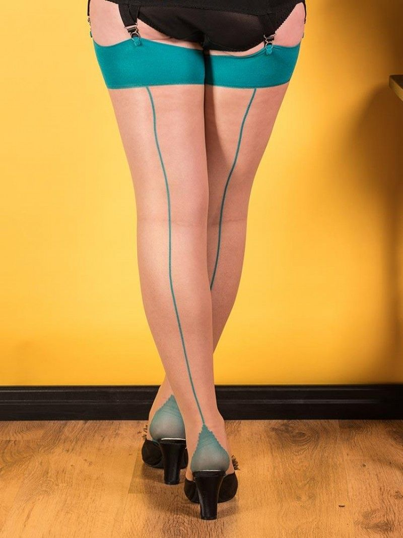 What Katie Did Seamed Stockings Grey Glamour
