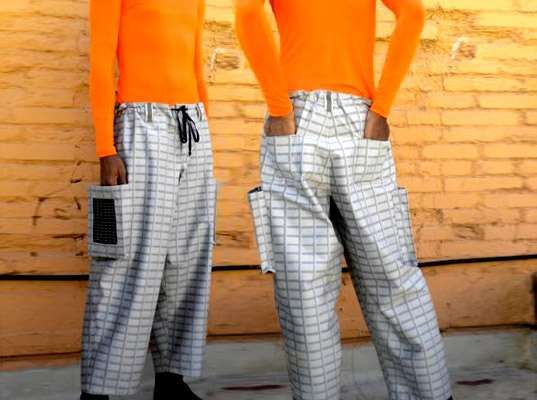 Solar Powered Clothing Clothes Design Cargo Pants Futuristic Fashion
