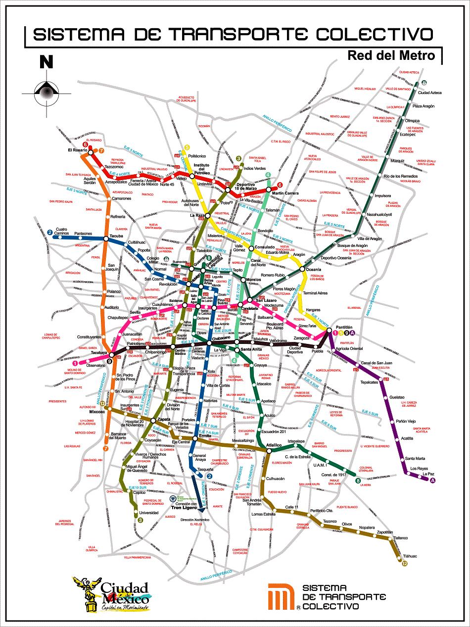 Mapa do metro 2020