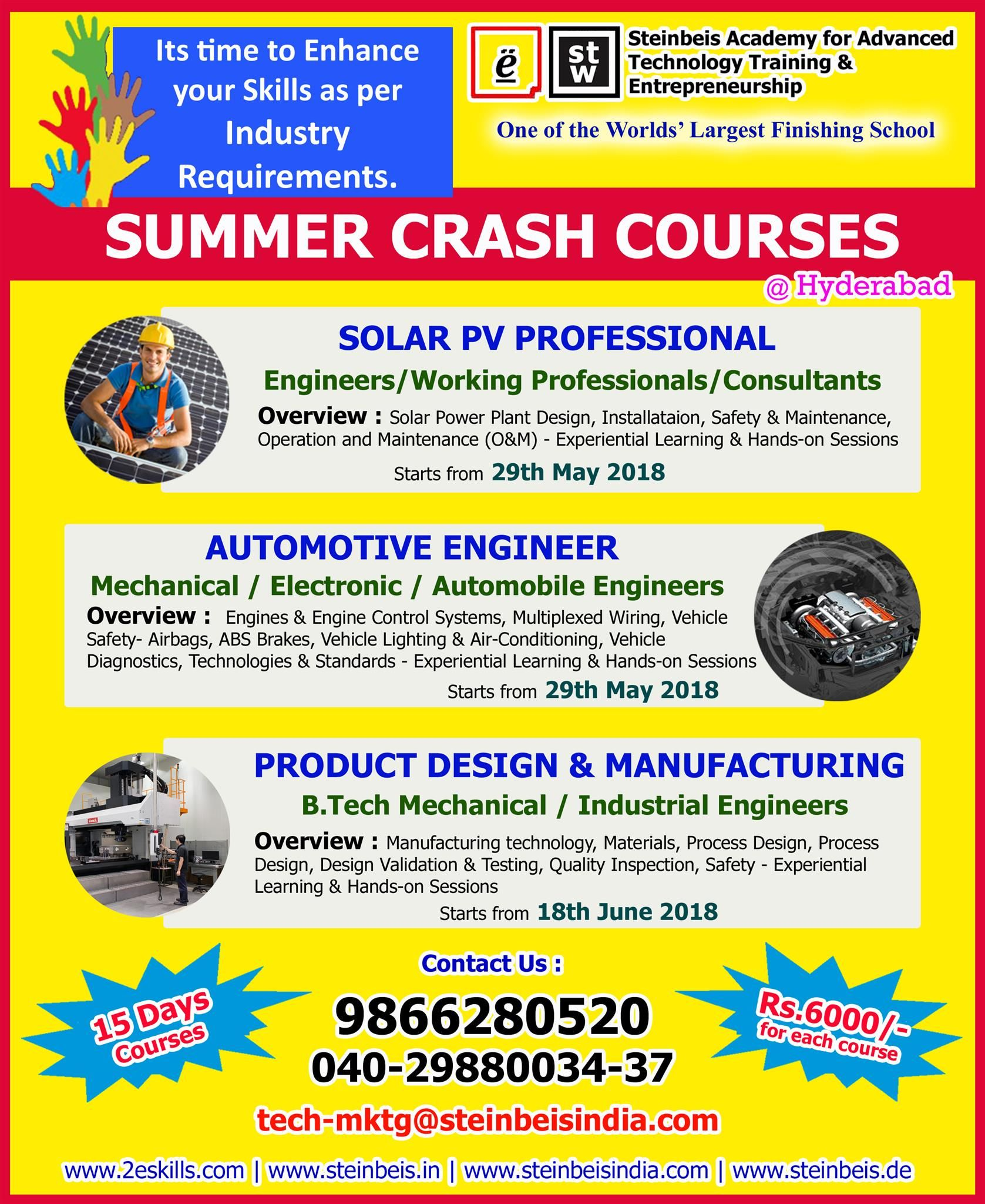 Summer Crash Courses !!! Utilize This Summer By Enhancing