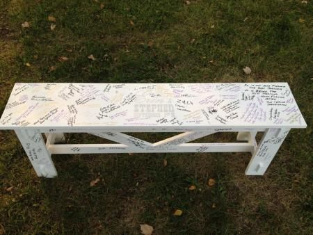 Wedding bench guestbook do it yourself home projects from ana wedding bench guestbook diy projects solutioingenieria Images