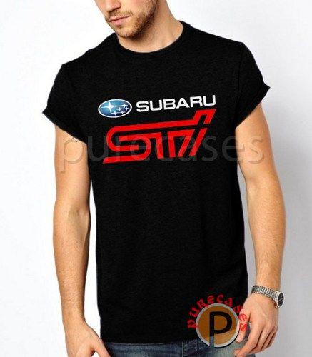 Black T Shirt Subaru STI Logo Men Tees Tshirt Printing