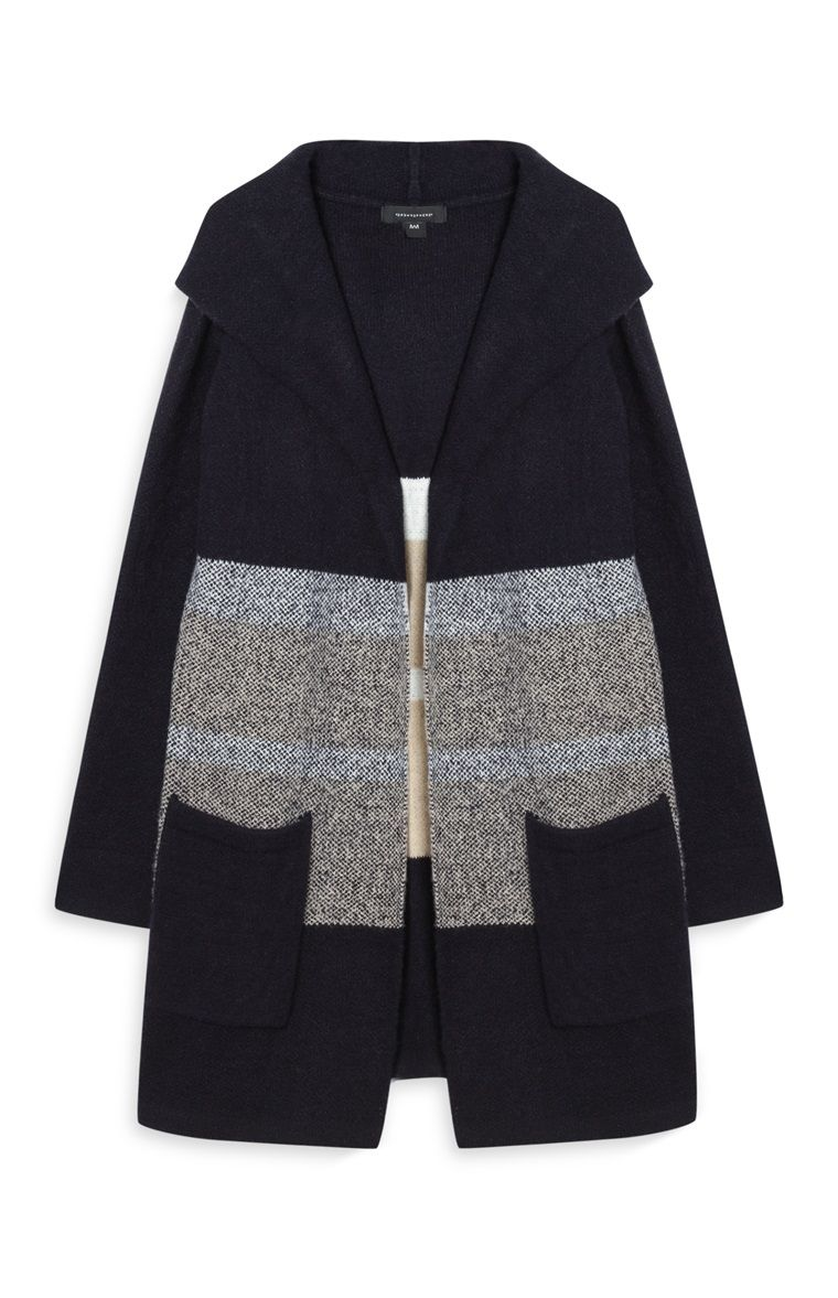 Primark - Navy Hooded Cardigan