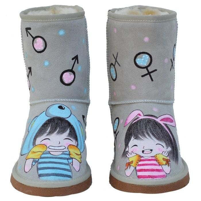 Cute painted cold weather boots.