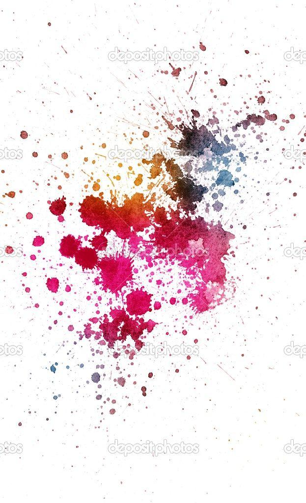 Ink Splatters Background For Tattoo Watercolor Splatter