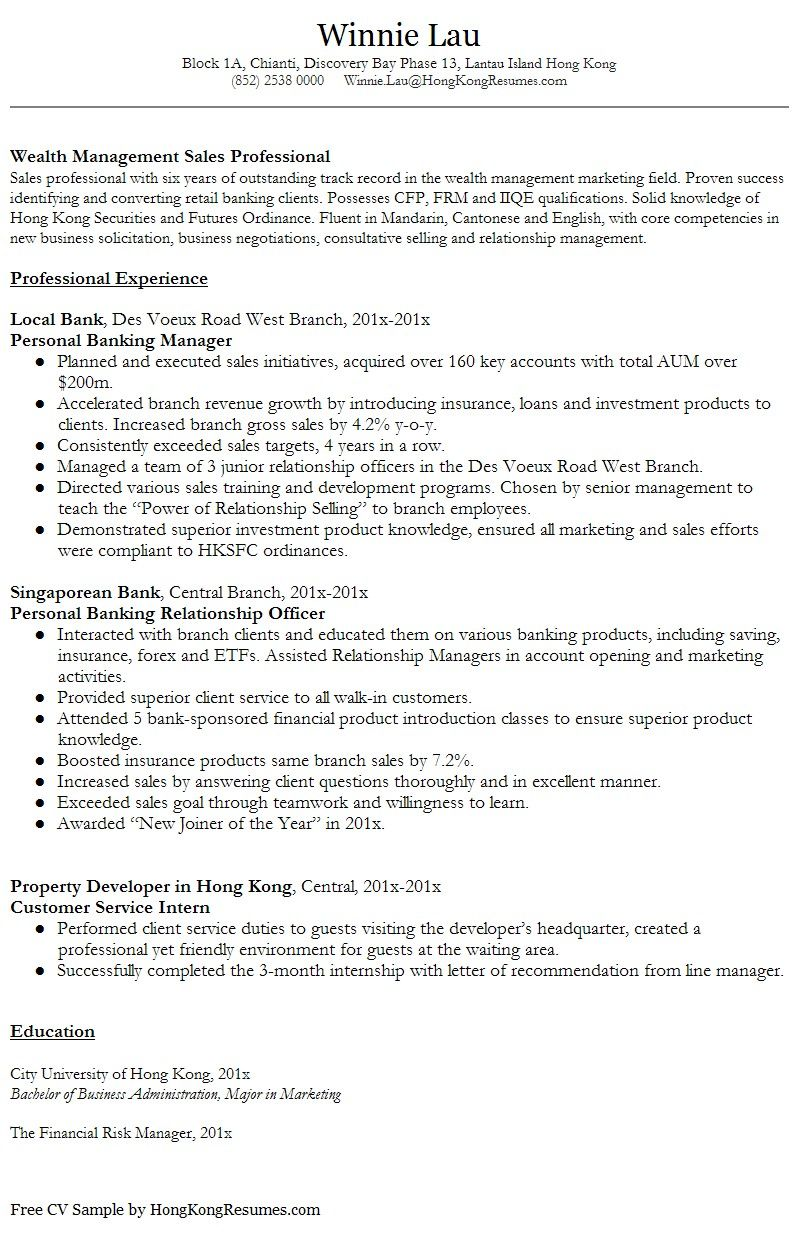Resume Templates Hong Kong Resume Resumetemplates Templates