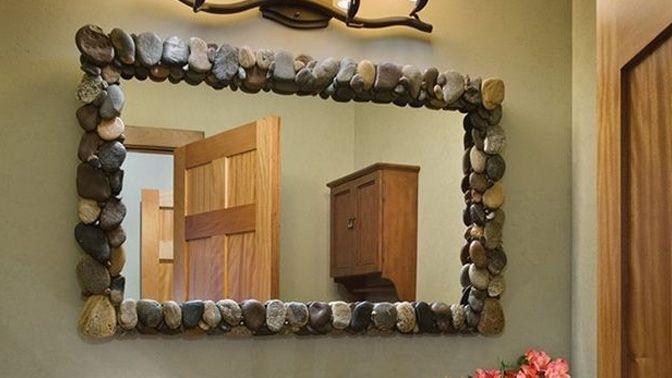 Espejos decorados para navidad buscar con google for Espejos con marco de madera decorados