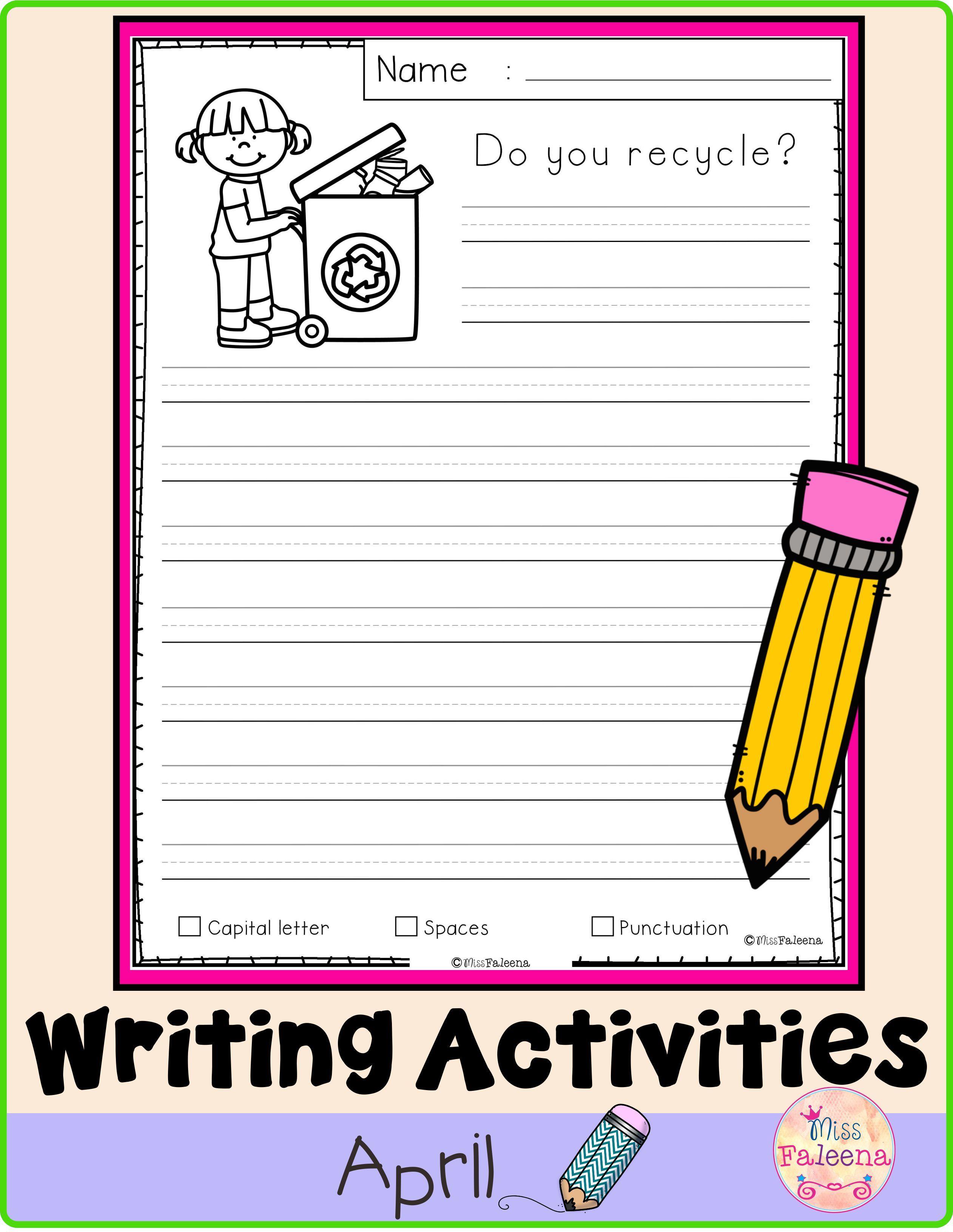 April Writing Activities [ 3264 x 2524 Pixel ]