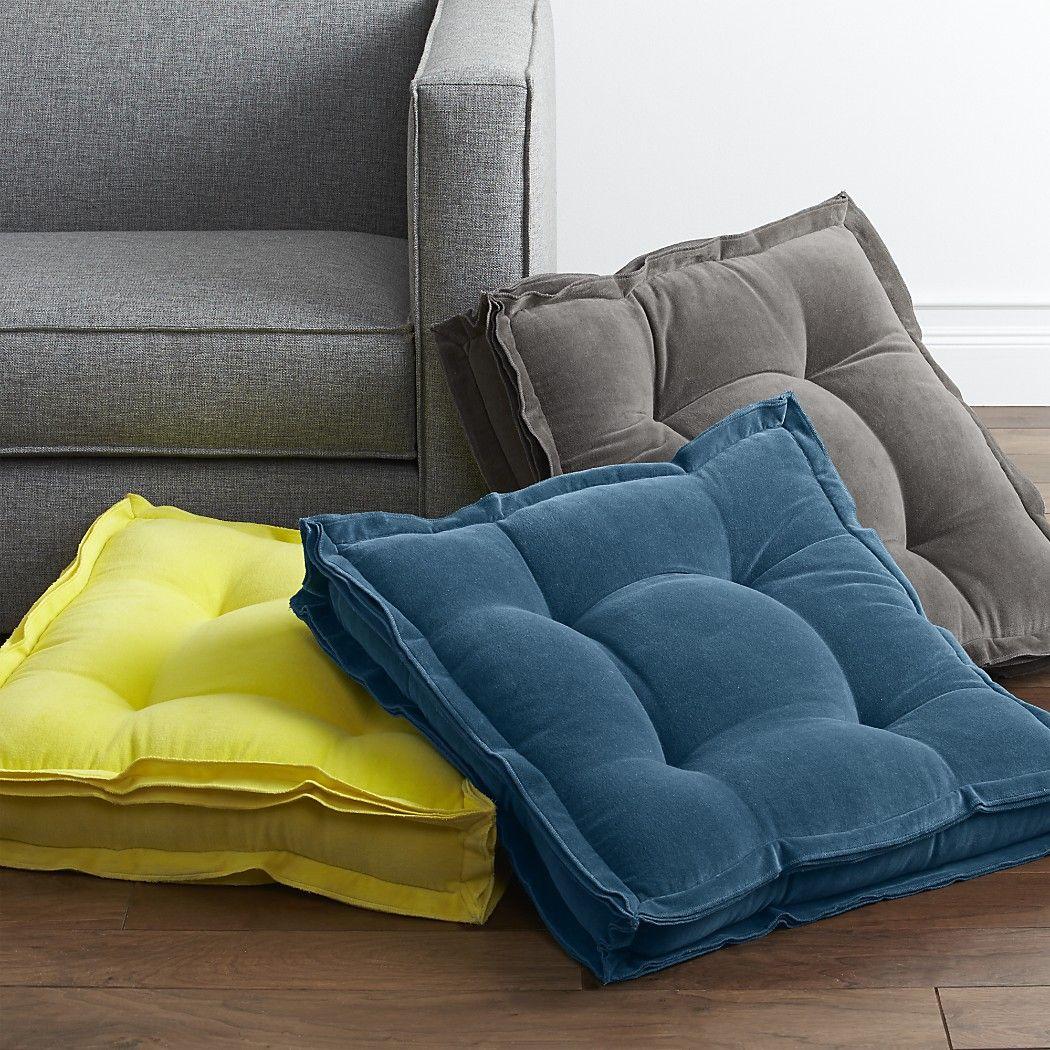 VelvetFloorCushionGroupS15 Sunroom Floor cushions