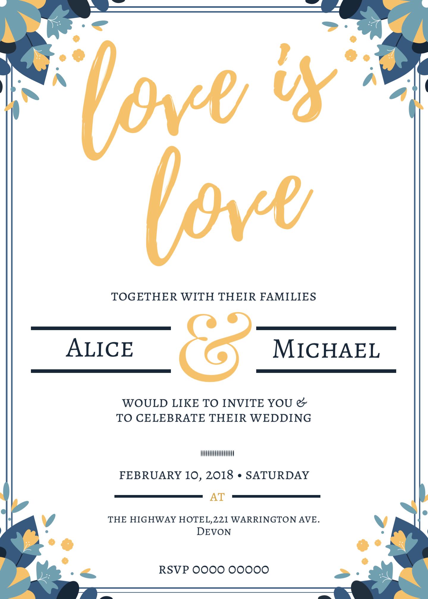 Wedding Invitation - Wedding Invitation Template -Trending Now ...