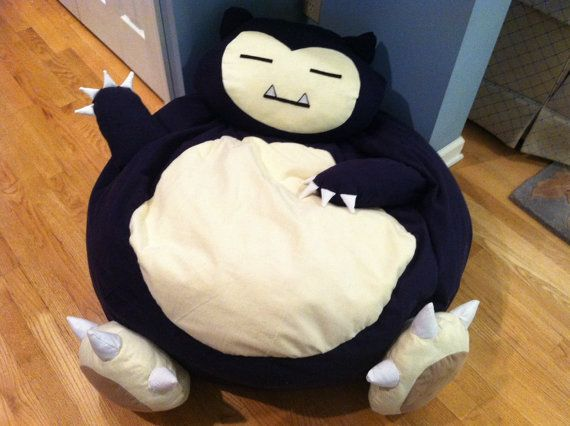 Groovy Snorlax Pokemon Full Size Bean Bag Chair By Ageekboutique On Gmtry Best Dining Table And Chair Ideas Images Gmtryco