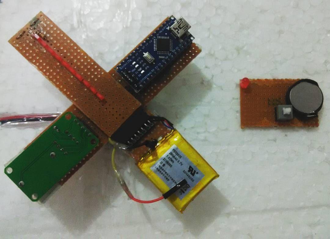 Real-time modular POV analog clock based on #Arduino nano is