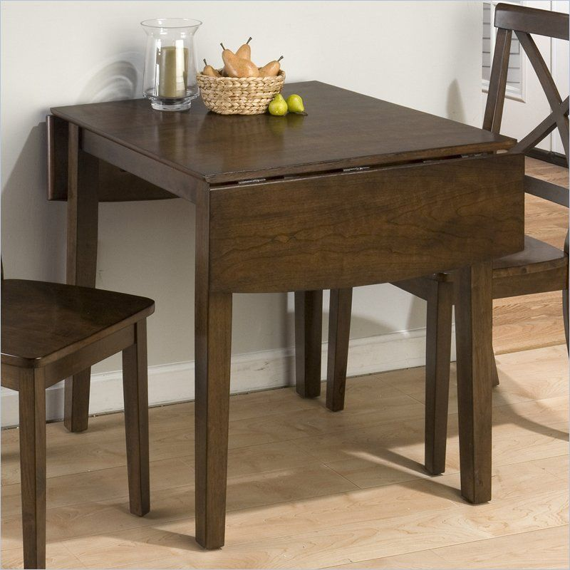 Jofran Double Drop Leaf Dining Table In Taylor Brown Cherry Drop